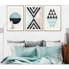 3 pièces non encadrées scandinave moderne nouveauté abstrait art géométrique salle de séjour peinture décorative pour salon maison d