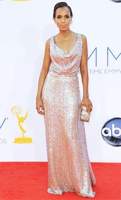 Kerry Washington at Emmy Awards 2012 in Vivienne Westwood