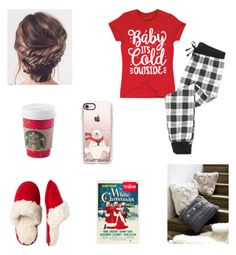"""""""Christmas Eve"""" by cait0316 ❤ liked on Polyvore featuring Casetify, Dearfoams, Frillies and UGG Australia"""