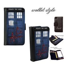 iPhone and Galaxy leather wallet case - Always Doctor Who Harry Potter Tardis BaD WoLF parody mashup  Ciara