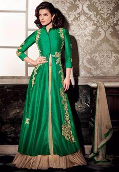 #Heroine #PriyankaChopra Indian #Wedding #Lengha #Dress 5122 #Green