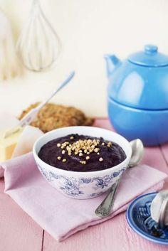 Mannagrynsgröt med blåbär & kardemumma