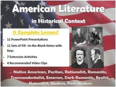 American literature timeline american lit pinterest american american literature in historical context slides and notes pages covers all major lit movements tpt 12 fandeluxe Choice Image