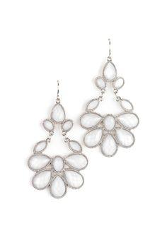 Chandelier Snow Earrings