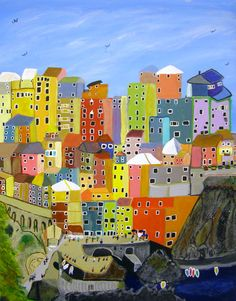 """2010 JC In-House Honorable Mention: Brad McCaull for his acrylic painting, """"Mediterranean Happiness"""". Disability Art, Visual Arts Center, Art Society, Contemporary Art, This Is Us, Happiness, Artist, Artwork, House"""