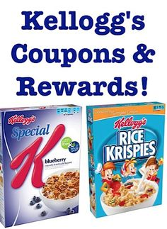 Sign up to receive Kellogg's Coupons and Rewards!