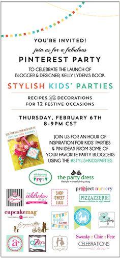 stylish kids parties pinterest launch party