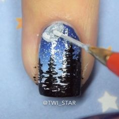 Here is the tutorial of my Starry Night Nails!   these were recreated from a mani by @alondraloveolish for her bday collab