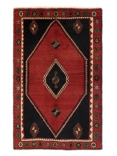 """Persian Hand-Knotted Rug (4'2""""x6'6"""") from One-of-a-Kind Rugs Feat. Persian Designs on Gilt"""