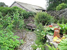 Beatrix Potter's Hill Top Farm garden, Near Sawrey, Cumbria Lake District, England, UK.