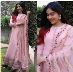 Excited to share this item from my shop: VeroniQ Trends-Bollywood Star Ada Khan Pink Anarkali Dress with Embroidery in Georgette-Salwar suitPartyFunctionGown dressIndiaPakistan Bollywood Stars, Bollywood Fashion, Bollywood Dress, Kurta Designs, Blouse Designs, Anarkali Dress, Lehenga Choli, Silk Dupatta, Gown Dress