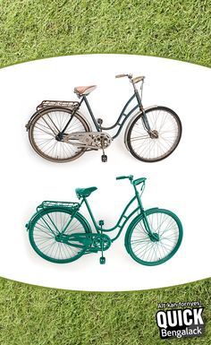 Den gode gamle sykkelen som du har satt bort, kan bli et kult objekt å sette i hagen - eller om du vil sykle deg en tur. :)  #diy #bengalack #quickbengalack