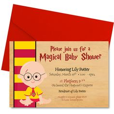 Personalized Harry Potter Theme Invitation Attention All Muggles
