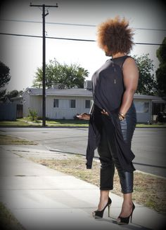 Marie Denees Style: Leather Cuffed Pants from CarmaKoma