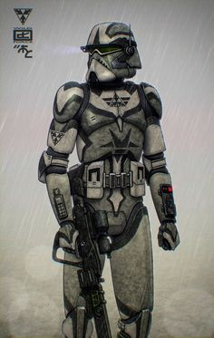 I like the phase 1 armour as senate security before they became the shock-troopers...also besides commander Thire are the 2 other clones Rhys n Jeks with the chain gun