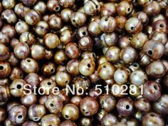 10-11mm 2.5mm hole 200pcs/lot Loose Freshwater Rice Pearl, Free Shipping No-514 $49.99