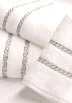 Léron | Swiss Embroidery Collection | Bespoke Bath Towels Bathroom Towels, Bath Towels, Luxury Bed Sheets, Towel Embroidery, Luxury Towels, Bath Linens, White Towels, Bath Towel Sets, Luxury Bath