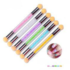 And Children Women Fine 1 Pc Dual-ended Dotting Pen Rhinestone Head Nail Art Uv Gel Polish Design Dot Painting Detailing Pen Brushes Art Tool Manicure Suitable For Men
