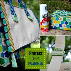 How to Apply Fabric Protector to Your Handmade Bags