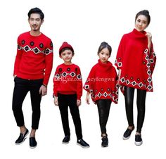 e6471972fe0f Mother Daughter Matching Clothes Father Son Family Matching Outfits Cotton  Sweater Cape Scarf Baby Boys Girls Dresses Boutique Qzzw033 Hawaiian Family  ...