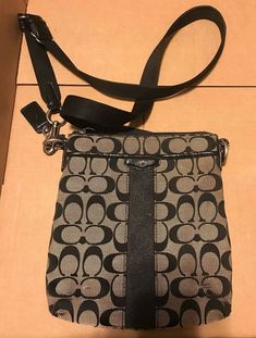 1bad31d67238 Coach Purse Crossbody Black and Grey Worn Used Condition  fashion  clothing   shoes