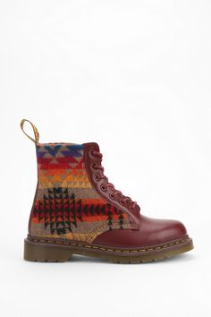 Martens X Pendleton Boot - Urban Outfitters Dream Shoes, Crazy Shoes, Me Too Shoes, Dr. Martens, Sock Shoes, Shoe Boots, Shoe Bag, Urban Outfitters, Boho
