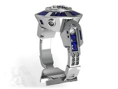 R2D2-inspired engagement ring | design by Uptown Diamond's Grayland Noah