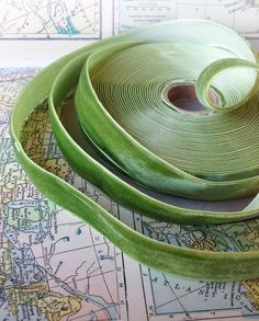 spring green velvet ribbon wedding bridal craft home by ShyMyrtle Home Crafts, Arts And Crafts, Beautiful Vacation Spots, Happy Hippie, Fabric Pictures, Green Goddess, Green Ribbon, Colour Board, Velvet Ribbon