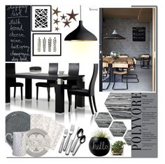 """""""Dining Room"""" by naomimjc ❤ liked on Polyvore featuring interior, interiors, interior design, home, home decor, interior decorating, Bloomingville, West Elm, Pablo and Beekman 1802"""