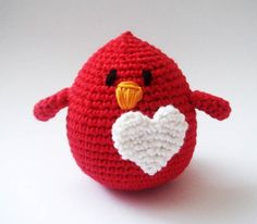 LOVE crocheted bird.