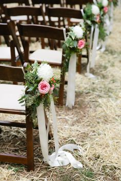Outdoor wedding decor   Read More on SMP: http://www.stylemepretty.com/2016/01/18/elegant-farmhouse-wedding-in-tennessee/