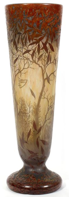 Daum Cameo Cut Glass Vase | C. 1895-1920 | January 2011 | Saturday Sale