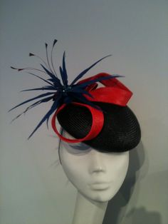 straw beret with red curls and feather flower Red Curls, Beret, Feather, Flower, Accessories, Berets, Quill, Feathers, Flowers