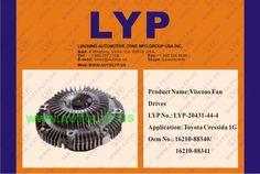 LYP-20431-44-4 VISCOUS FAN DRIVES / IMPULSORES DE VENTILADOR VICOSO OEM NUMBER - 16210-88340/16210-88341 REPLACEMENT FOR / REEMPLAZO PARA TOYOTA ENGINE MODEL - CRESSIDA 1G