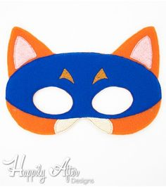 FREE Bandit Fox Mask ITH Embroidery Design - Perfect for any Dora the Explorer themed parties or events! :)