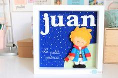 Juan le Petit Prince. Cuadro personalizado hecho a mano
