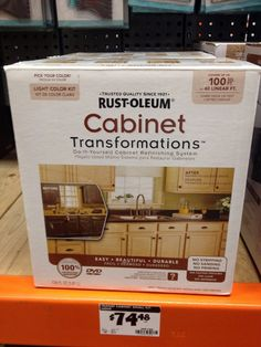 Rustoleum Cabinet Transformations. Awesome product! Easiest, cheapest way to completely change the look of a kitchen or bathroom!