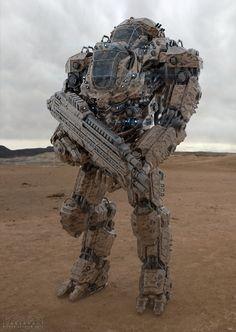 Juggernaut Mech Design on Digital Art Served