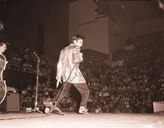 April 2, 1957 - Elvis Presley appears for the first time outside the United States, performing at the Maple Leaf Gardens in Toronto, Canada. This and a show the next day in Ottawa would be the only Elvis concerts ever given outside the US