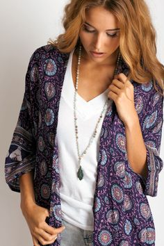 Arnhem Clothing Kamisha kimono in daydreamer: Soleilblue.com