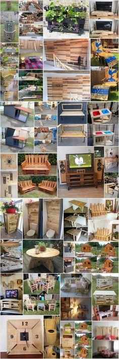 35 Captivating Plans for Wood Pallet Reusing