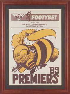 Hawthorn vs Geelong: WEG Premiership Poster 1989