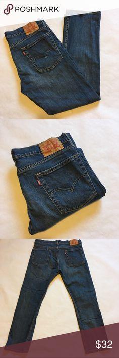 1e9f0bbcb6 Like New Levi Strauss Men s Blue 513 Jeans 36 x 30 • name brand  Levi