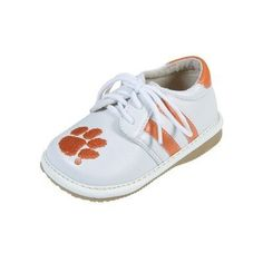 Squeak Me Shoes 4221 Boys' Clemson Sneaker Size: 4 (Toddler), Color: White by TQK. $29.99. Squeaky shoes are stylish and fun, and target little children approximately six months to three years of age. They are lined with soft leather and the shoes encourage children to walk. They are comfortable and flexible with non-skid soles. You can always hear where your child is, and the squeaker can be easily re-inserted by an adult. Squeaky shoes are a big hit with lit...