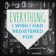All of the things I wish I had put on our wedding registry (plus the stuff we really didn't need!) #weddingadvice #giftregistry