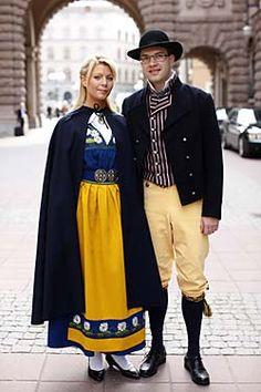 The National costume (left), Blekinge (right)