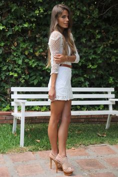30 best looking white mini skirt outfits 2019 Skirt Outfits, Sexy Outfits, Sexy Dresses, Short Dresses, Cute Outfits, Fashion Outfits, Picnic Outfits, White Mini Skirts, Sexy Legs And Heels