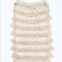 """HP H&M Conscious Fringe Skirt Fun and flirty skirt will be sure to turn heads and has plenty of styling options. Length 27 1/2"""" Waist 27"""" 100% Rayon/ Viscose   Worn once in perfect condition, no signs of wear. H&M Skirts Pencil"""