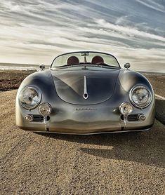 Porsche 356 Spider. Check out Facebook and Instagram: @metalroadstudio  Very cool!