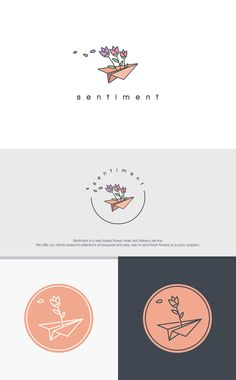 Attractive and elegant logo is wanted for Sentiment Flowers
